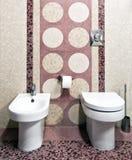 新的空间洗手间 库存图片