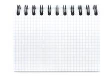新的笔记本螺旋 库存图片