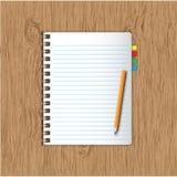 新的笔记本页 向量例证