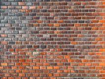 新的红砖墙壁背景  红砖墙壁纹理完善难看的东西的背景为设计目的 模板或嘲笑 免版税库存图片