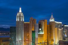 新的约克新的约克旅馆和赌博娱乐场,拉斯维加斯, NV,美国 免版税库存图片
