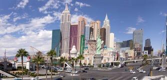 新的约克新的约克赌博娱乐场和旅馆在拉斯维加斯,内华达 免版税库存图片