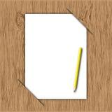 新的纸铅笔黄色 向量例证