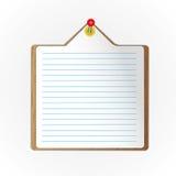 新的纸页 向量例证