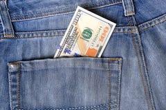 新的美国一百元钞票放入循环在10月20日 免版税图库摄影