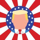 新的美国总统唐纳德・川普 美国国旗 库存照片