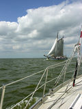 新的老风船 免版税库存图片