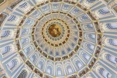 新的耶路撒冷修道院的复活大教堂的圆顶 假定大教堂dmitrov克里姆林宫莫斯科明信片区域俄国冬天 免版税库存照片