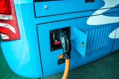 新的能量公共汽车 免版税库存照片