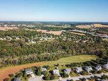 新的自由和周围的农田天线南Penns的 免版税库存照片