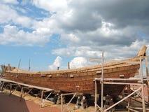 新的船建筑,立陶宛 免版税库存图片