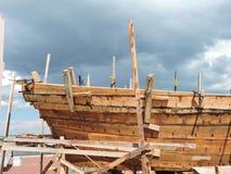 新的船建筑,立陶宛 图库摄影