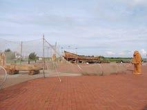 新的船建筑,立陶宛 免版税库存照片