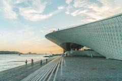 新的艺术馆、建筑学和Technology Museu de Arte, Arquitetura e Tecnologia或MAAT 库存照片