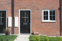 新的英国住房 免版税库存照片