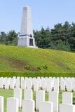新的英国公墓世界大战1富兰德调遣 免版税库存照片