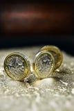 新的英国英镑硬币 图库摄影