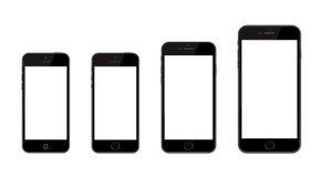 新的苹果计算机正iPhone 6和iPhone 6和iPhone 5 图库摄影