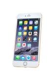 新的苹果计算机iPhone被隔绝的6正 免版税库存图片