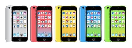 新的苹果计算机iphone 5c 免版税库存图片