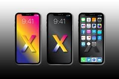 新的苹果计算机IPhone x 库存照片
