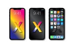 新的苹果计算机IPhone x 免版税库存图片