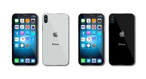 新的苹果计算机iPhone x 10 库存照片