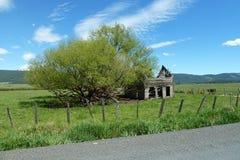 新的草甸,爱达荷历史谷仓 免版税图库摄影