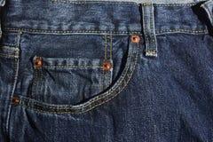 新的蓝色牛仔裤 库存照片