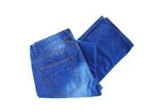 新的蓝色牛仔裤 免版税库存图片