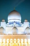 新的观点的扎耶德Mosque,阿拉伯联合酋长国回教族长 库存图片