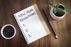 新的解决方法年 免版税库存照片