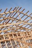 新的谷仓Framming建设中 免版税图库摄影