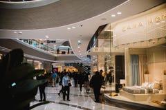 新的购物中心的第一天 库存照片