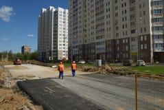 新的路的建筑 免版税图库摄影