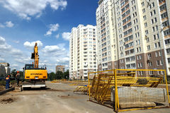 新的路的建筑 免版税库存图片