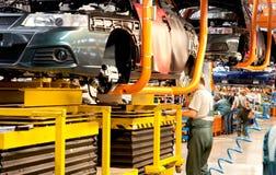 新的车装配的生产线  免版税库存照片