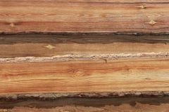 r 新的轻的木墙壁由委员会做成 库存图片