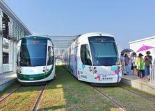 新的轻的铁路系统在台湾 库存图片