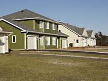 新的连栋房屋 库存照片