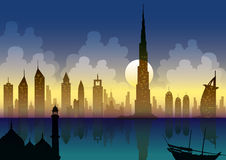 新的迪拜 库存例证