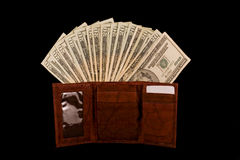 新的钱包 库存照片