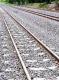 新的铁路线 库存图片
