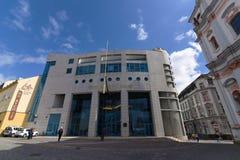 新的银行在乌斯季nad Labem市 库存图片