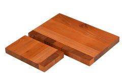 新的长方形木切板 免版税库存图片