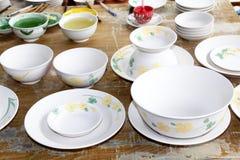新的陶瓷和釉 免版税库存照片