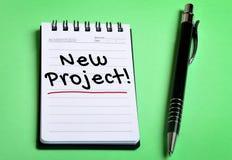 新的项目词 图库摄影