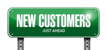 新的顾客路牌概念 免版税库存照片
