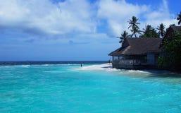 新的餐馆,纽岛手段,马尔代夫 库存图片