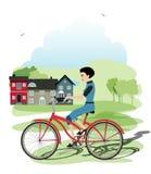 新的骑自行车者 图库摄影